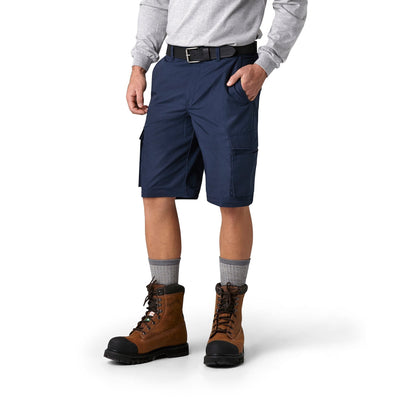 key features Men's Convertible 2 in 1 Cargo Work Pants in Cotton Blend Ripstop With Zip Off Legs - Navy