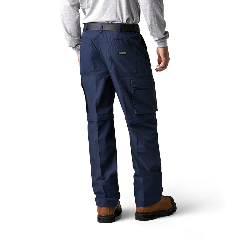 Men's 2-in-1 Cargo Work Pants and Shorts - Navy