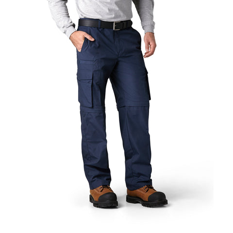 Men's 2-in-1 Convertible Cargo Work Pants and Shorts - Navy