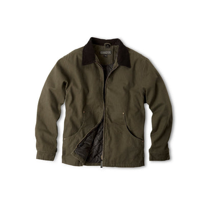 key features Men's Convertible 3 In 1 Cotton Work Jacket With Durable Washed Canvas - Moss