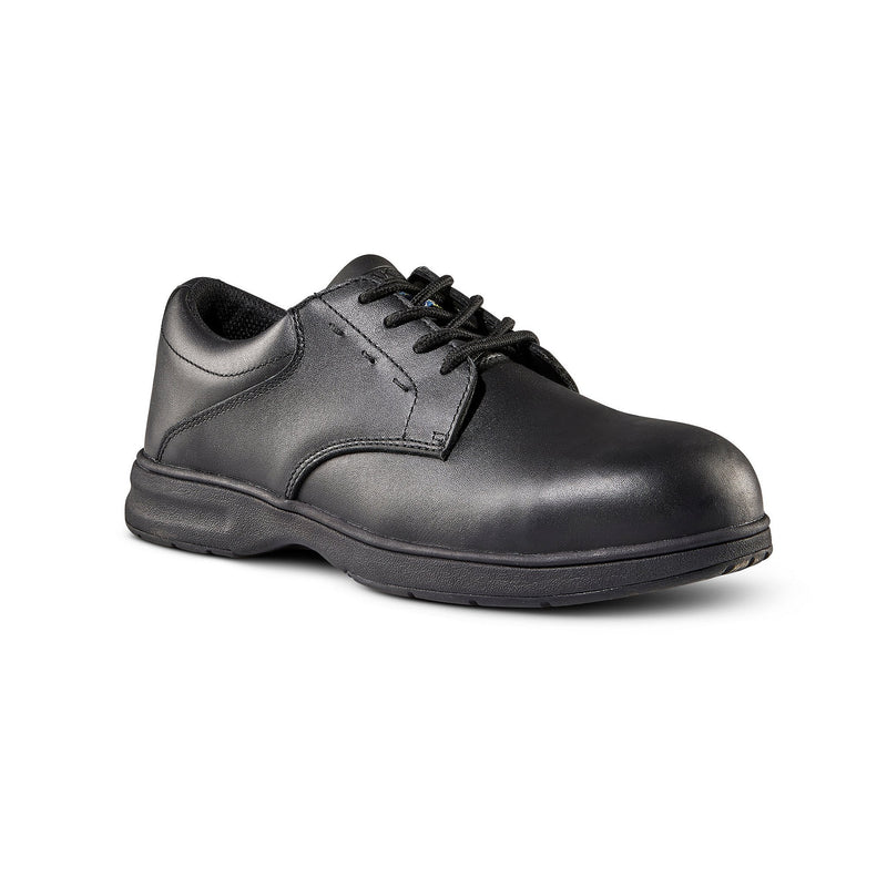 Men's ESD Lace Up Leather Safety Shoe Aluminum Toe - Black