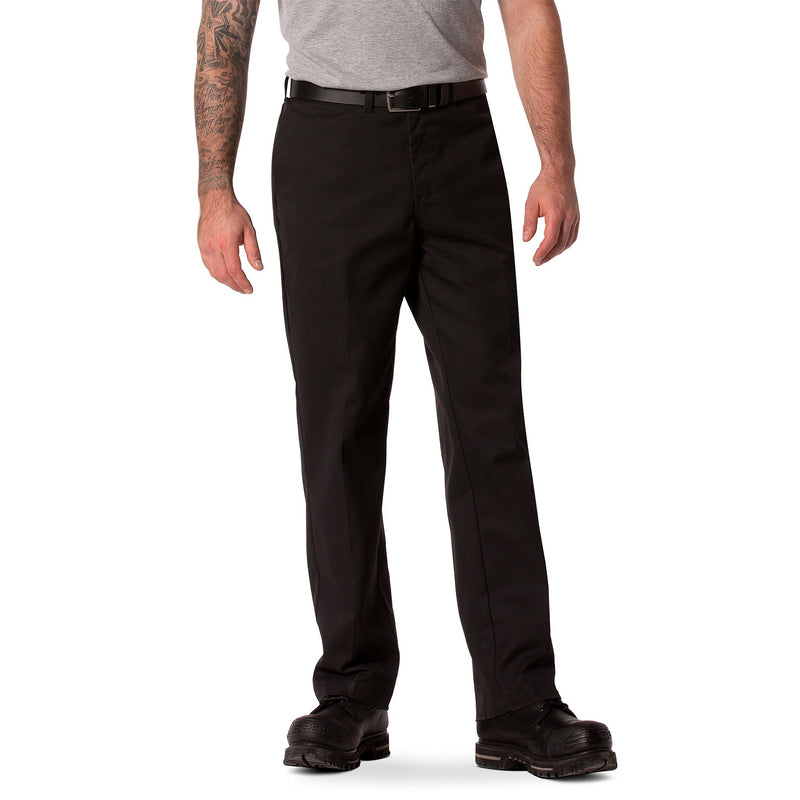 Men's stretch twill flat front work pant - Black