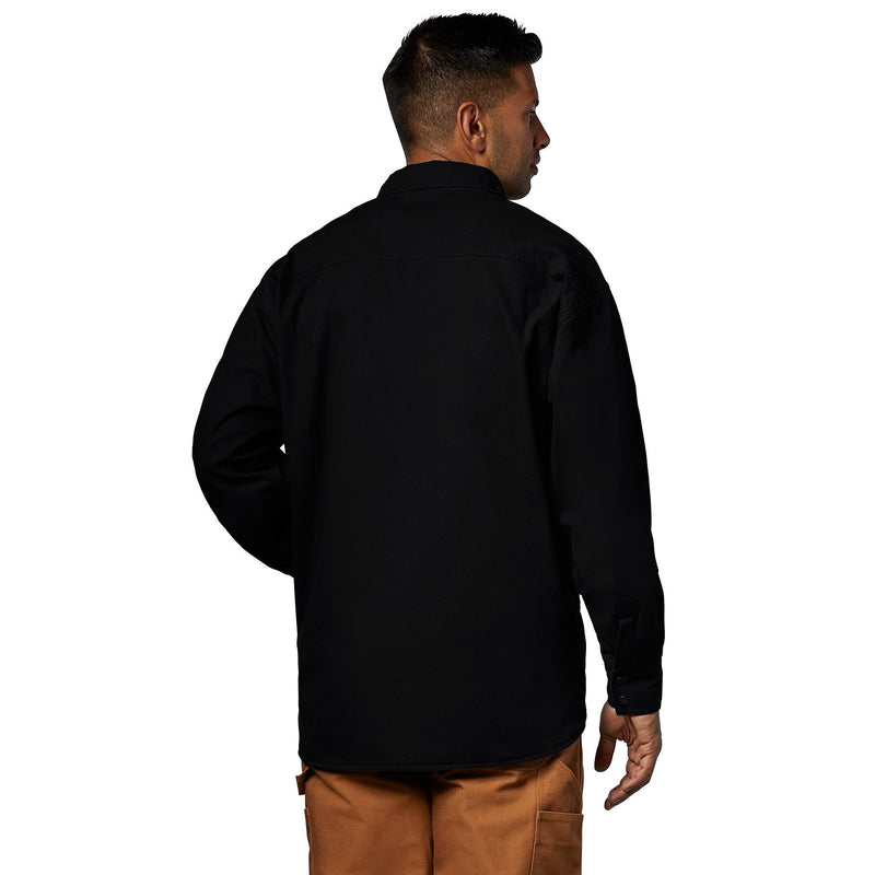 Men's Ultra-Soft Duck Jacket, Cotton & Fleece Lining for Cold Weather - Black