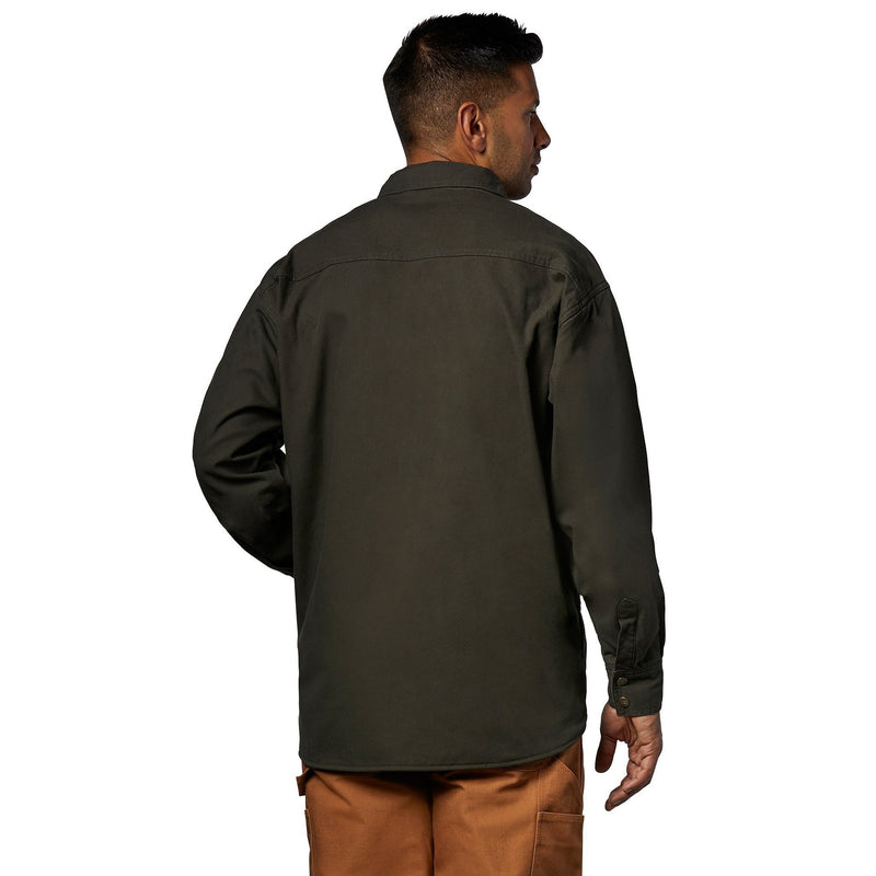 Men's Fleece Lined Micro-Sanded Washed Duck Jacket - Moss