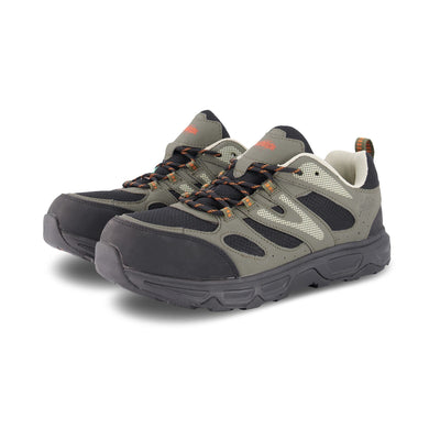 key features Men's Low-Cut Safety Hiking Shoe Steel Toe Plated & Breathable - Black/Gray