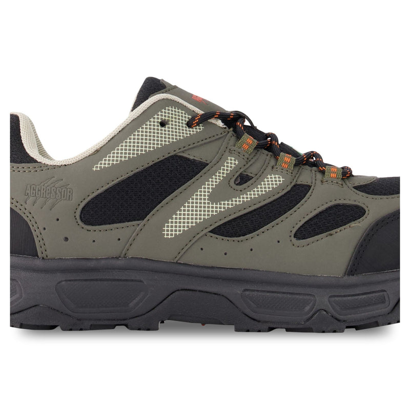 Men's Low-Cut Safety Hiking Shoe Steel Toe Plated & Breathable - Black/Gray