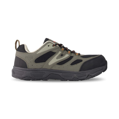Men's Hiking Style Safety Work Shoes Steel Toe Plated - Black/Gray