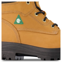 Men's Lynx II 6 Inch Safety Work Boots Steel Toe Plated - Tan