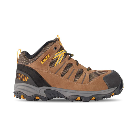 Men's Mid Cut Safety Work Boots Aluminum Toe Plated - Tan/Black