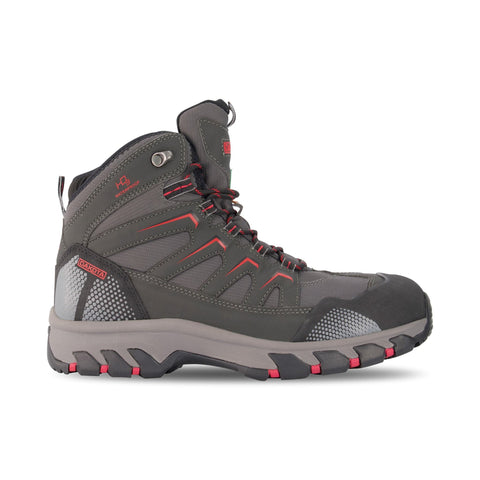 Men's Mid Cut Safety Hiking Boots Steel Toe Plated & Waterproof