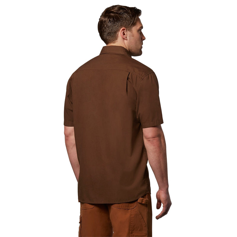 Men's Short Sleeve Workwear Work Shirt With A Cotton Canvas - Chestnut