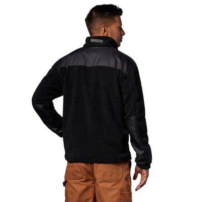 key features Men's Soft Fleece Work Jacket/Sweatshirt With Full Zipper - Black