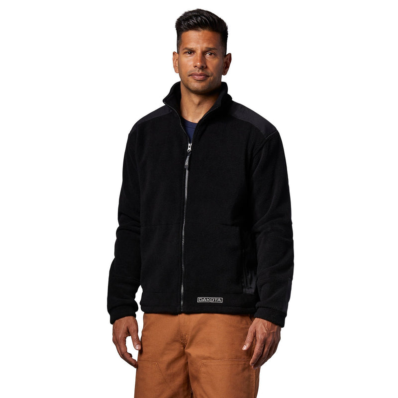 Men's Deluxe Full Zip Solar Fleece Jacket - Black