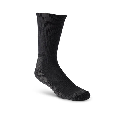 key features Men's Steel Toe Work Boot Crew Socks with Heavy Cushioning and Odor Protection - Black