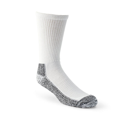 key features Men's Steel Toe Work Crew Socks with Heavy Cushioning and Odor Protection - White