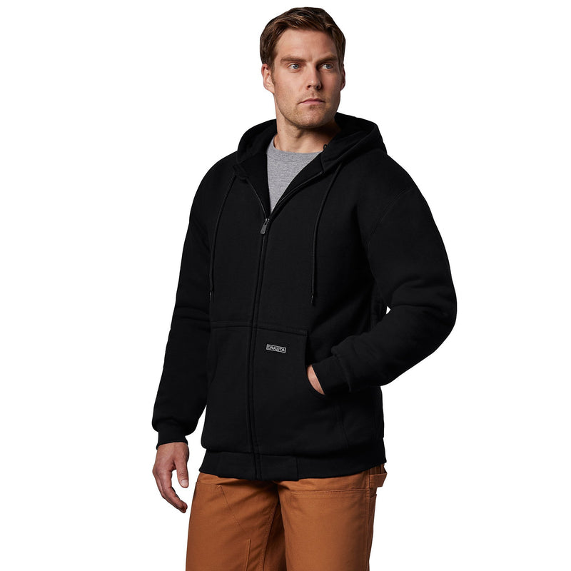 Men's t-max lined full zip hooded sweatshirt - Black