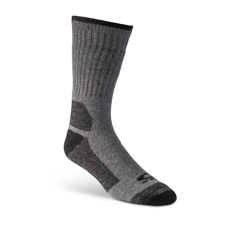 Men's 2-Pack Ultimate Work Crew Socks, Wool Blend with Odor Protection - Grey