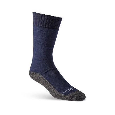 key features Men's Wool Blend Work/Hiking Crew Socks with Moisture Wicking and Odor Protection - Navy