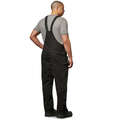 key features Men's Work Duck Bib Overall, Soft Cotton & Adjustable Fit - Black