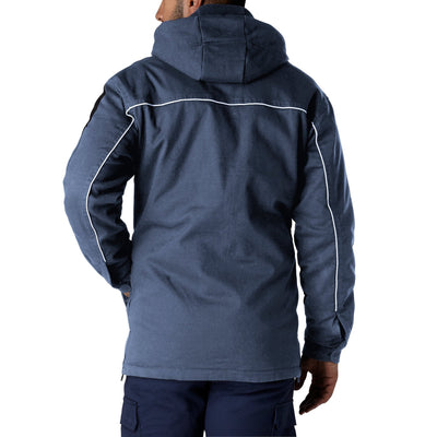 key features Men's Thermal Insulated Cotton Work Jacket with Removable Fleece Hood And Balaclava - Navy