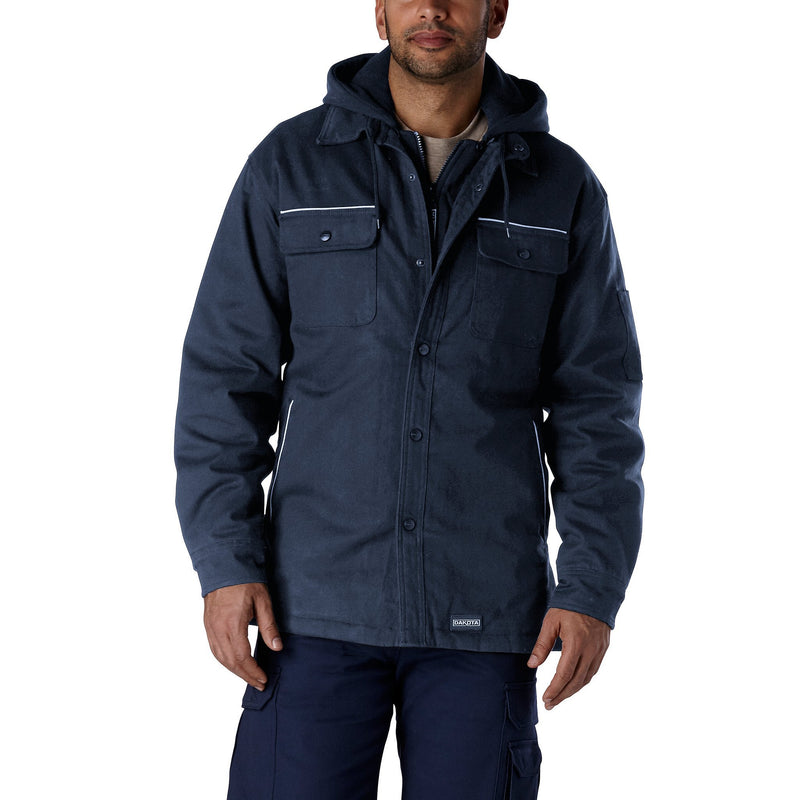 Men's Work Jacket, Insulated for Warmth with Soft Cotton   - Navy