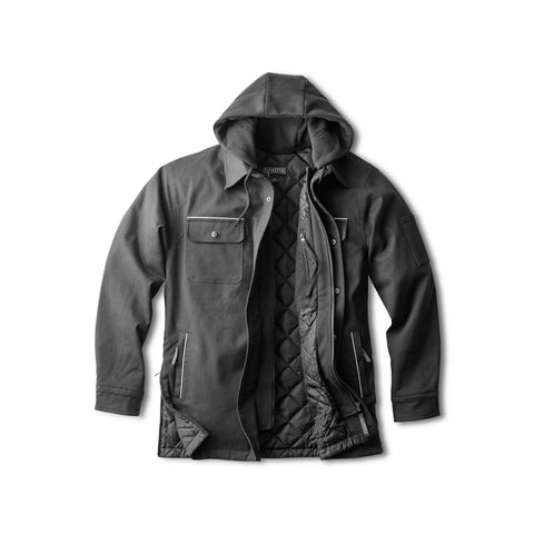 Men's Work Jacket, Insulated for Warmth with Soft Cotton - Black