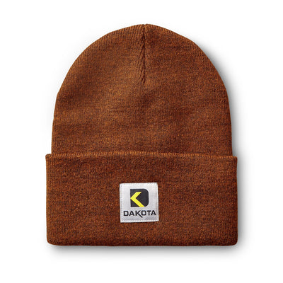 key features Unisex Double Layer Acrylic Knit Rib Cuffed Beanie Hat - Brown
