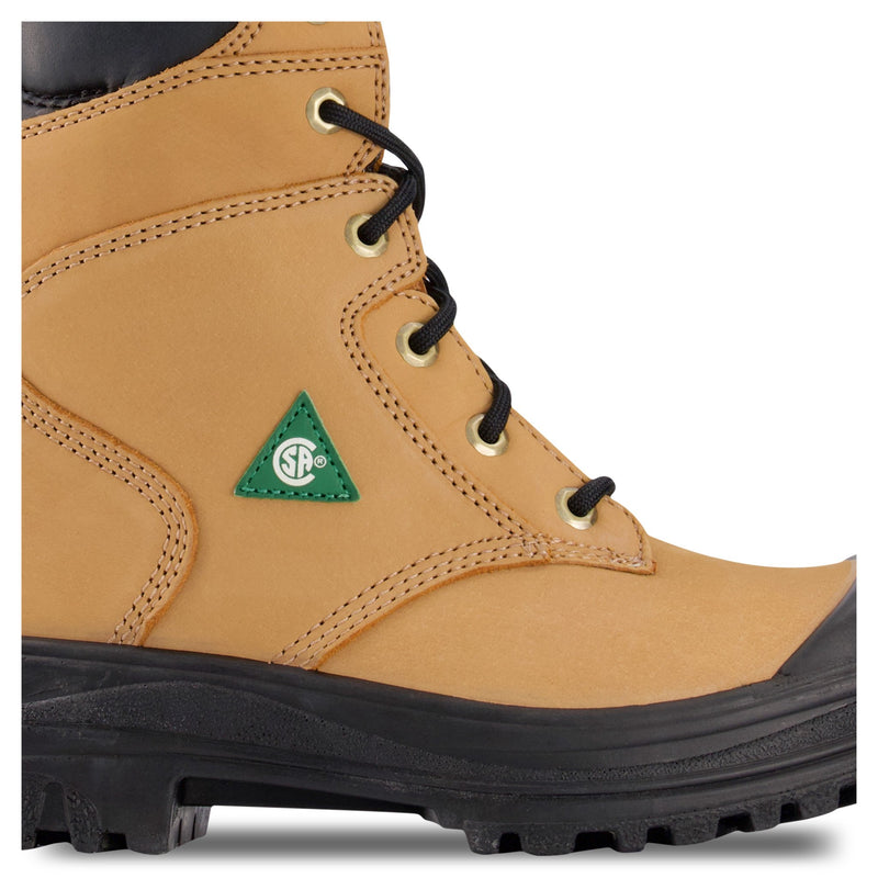 Women's 8 Inch Safety Work Boots Steel Toe Plated - Tan
