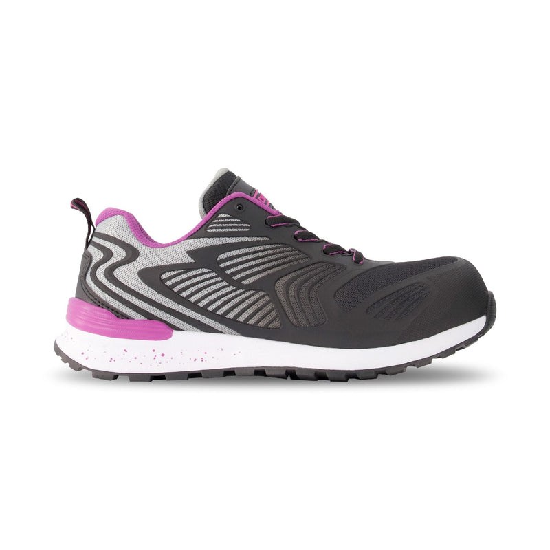 Women's Athletic Safety Work Shoe Composite Toe Plated - Black/Pink