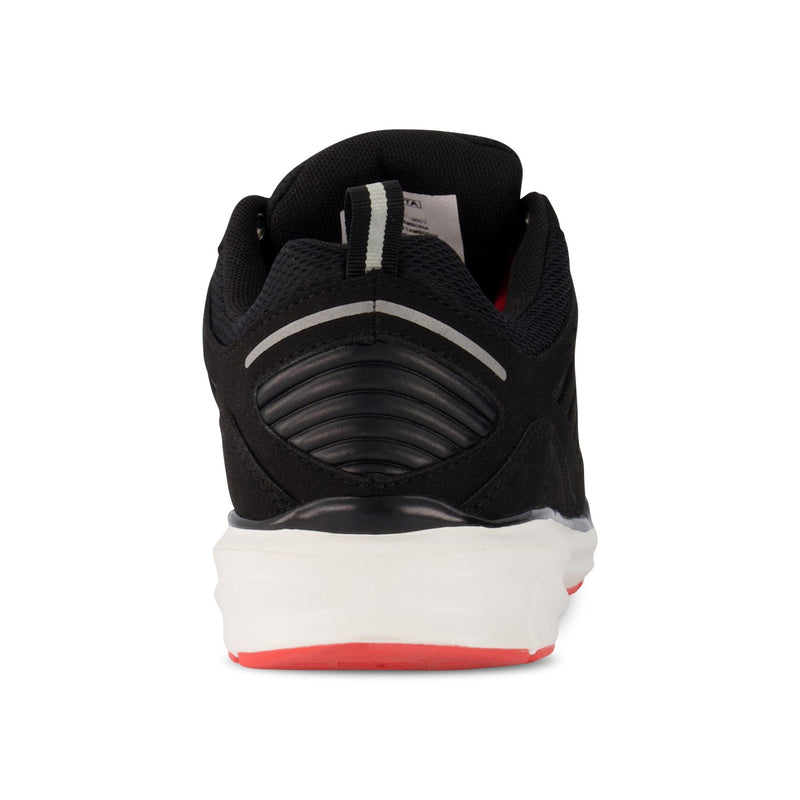 Women's Athletic Work Shoes Aluminium Toe Plated & Breathable - Black