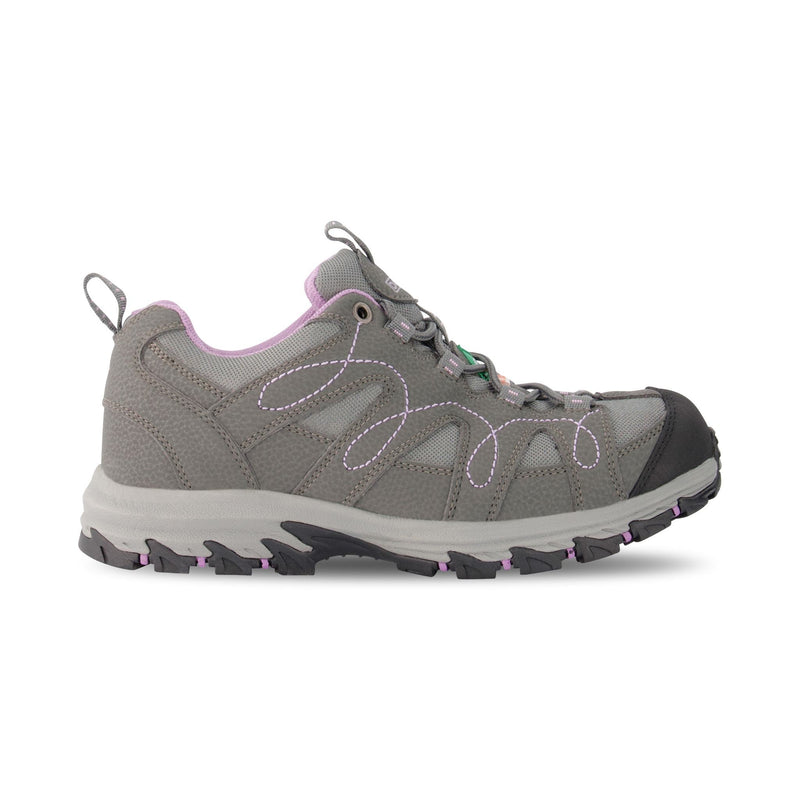 Women's Low-Cut Aluminium Work Boots Safety Toe Plated  - Grey