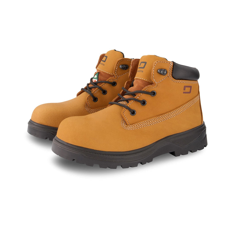 Women's Maz 6 Inch Safety Work Boots Steel Toe Plated - Tan