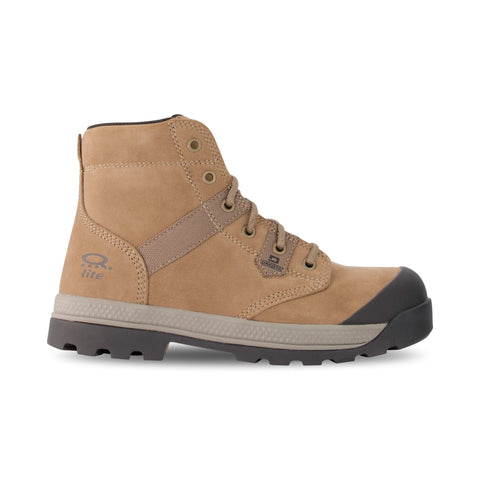 Women's Safety Work Boots Steel Toe Plated, Lace-Up Ankle & Breathable  - Taupe