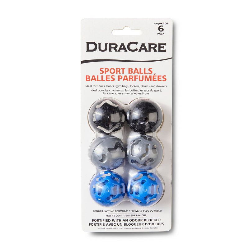 6-Pack Odour Protection & Fresh Scented Sport Balls - Multi