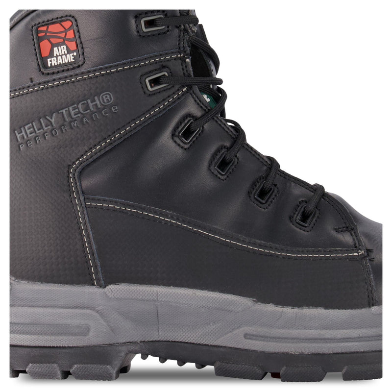 Men's 6 Inch Safety Work Boot Composite Toe Plated - Black