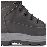 Men's 8 Inch Safety Work Boots Composite Toe Plated- Black