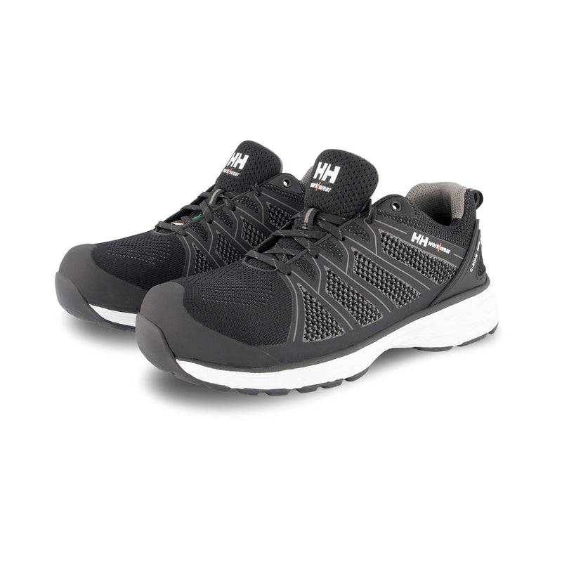 Men's ATSP Knit Athletic Safety Work Shoes Aluminum Toe Plated - Black/White