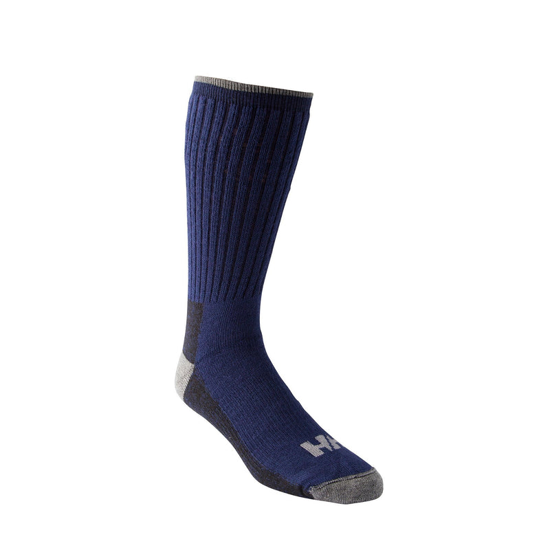 Men's/Women's Wool Blend Cold Weather Thermal Work/Hiking Socks With Odor Protection - Navy