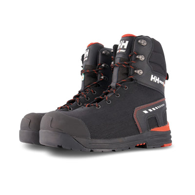 key features Men's 8 Inch High Abrasion Insulated Safety Work Boots Aluminum Toe Composite Plated - Black/Orange
