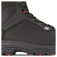Men's Leather Work Boots Composite Toe Plated - Black