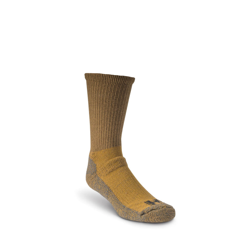 Men's Steel Toe Work Boot Crew Socks with Heavy Cushioning and Odor Protection - Camel