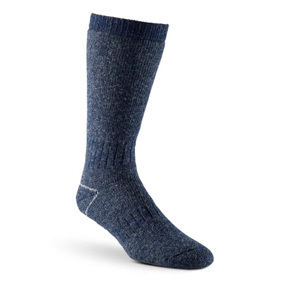 key features Men's Stretch Wool Blend Thermal Work/Hiking Socks - Blue Melange