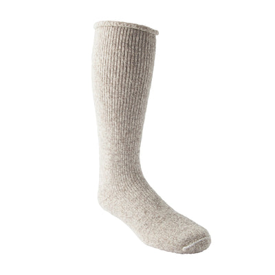 key features Men's/Women's Heavyweight Stretch Wool Blend Work/Hiking Socks With Rolled Cuff - Oatmeal Melange