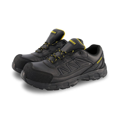 key features Men's Laser Athletic Safety Work Shoes Composite Toe With Anti-Slip Soles - Black