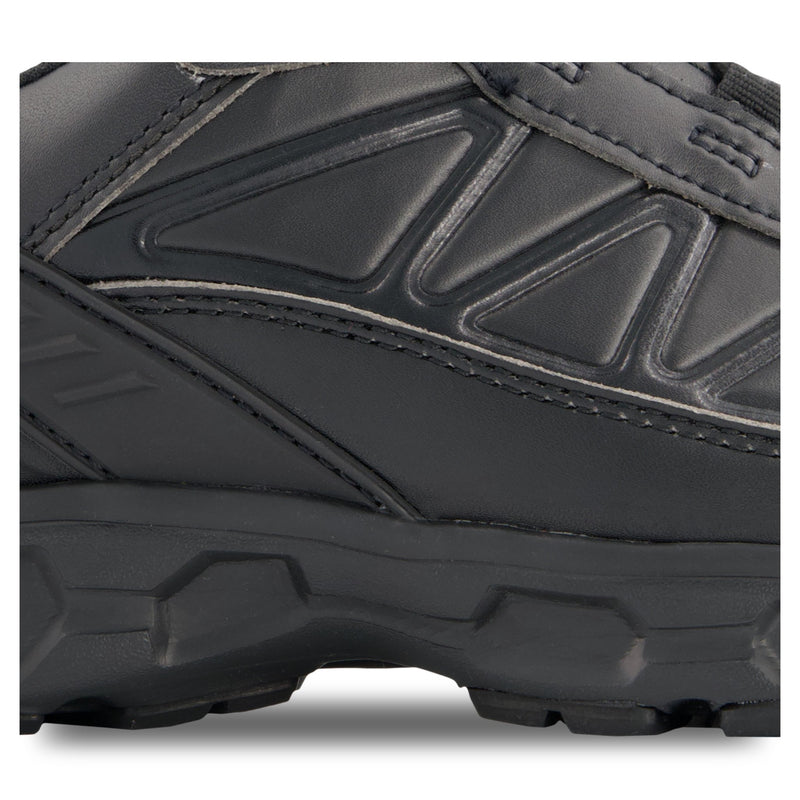 Men's Laser Athletic Safety Work Shoes Composite Toe With Anti-Slip Soles - Black