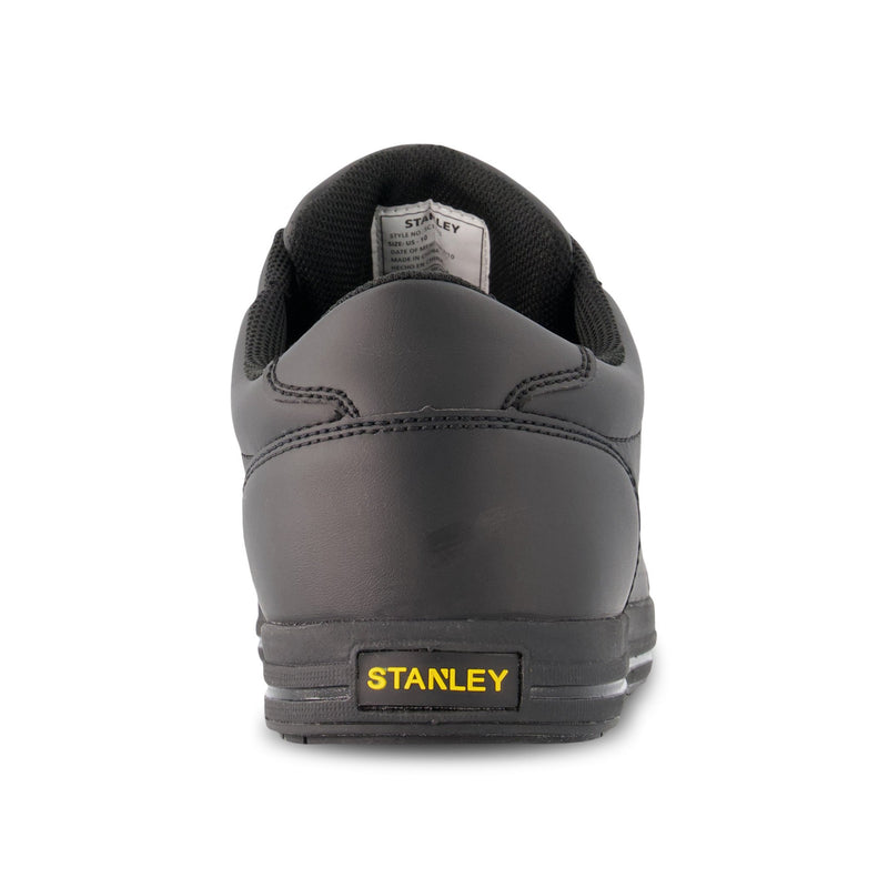 Men's Recoil Skate Style Safety Work Shoes Composite Toe With Anti-Slip Soles - Black