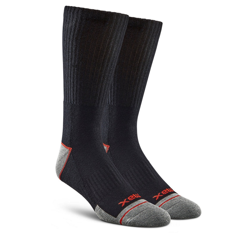 Men's 2-pack sport crew socks, t-max insulation - Black/Black