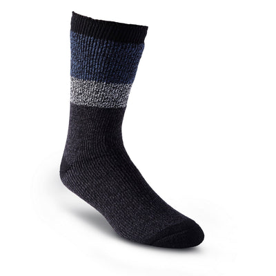 key features Men's Thermal Insulated Outdoor/Hiking Boot Socks for Cold Weather - Black/Blue