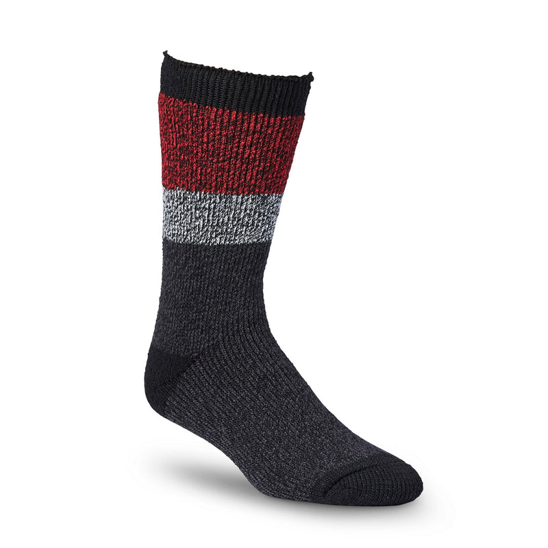 Men's Thermal Insulated Outdoor/Hiking Boot Socks for Cold Weather - Black/Red
