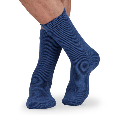 key features Men's Thermal Insulated Outdoor Hiking Boot Crew Socks For Cold Weather - Blue